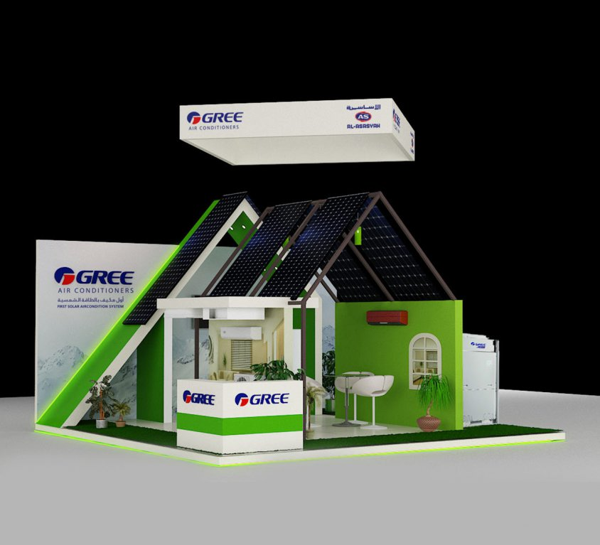 GREE BOOTH STAND DESIGN