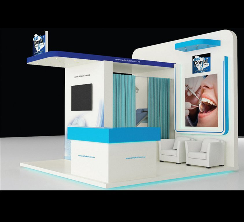 Al-Hokail Dental BOOTH STAND DESIGN