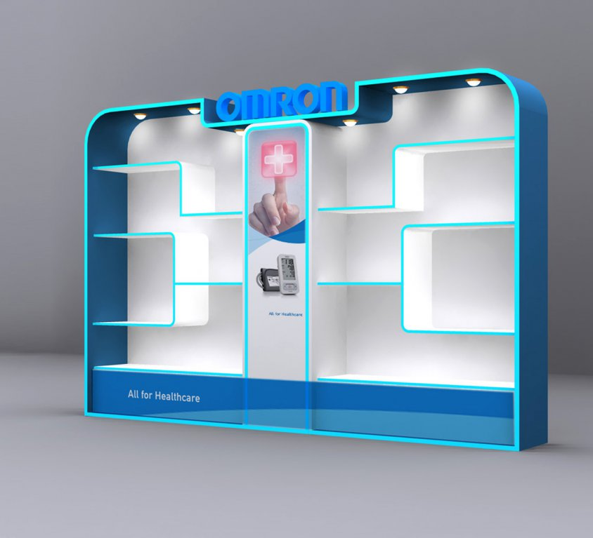 OMRON DISPLAY STAND