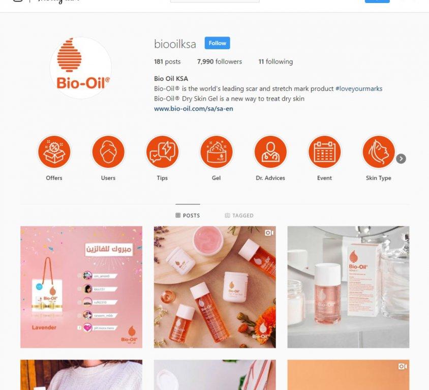 Bio-oil Saudi Arabia Instagram Page